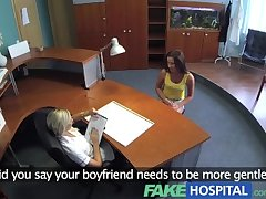 FakeHospital Naughty nurse tests potentially pregnant patients sensitivity