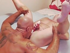 Muscle woman is blindfolded, eaten, anal fucked and fingered. Nigandjucy