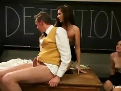 Detention Footjob